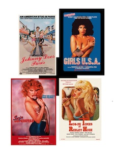 several porn film posters